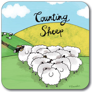 Counting Sheep  Coaster<br>(Pack of 10)