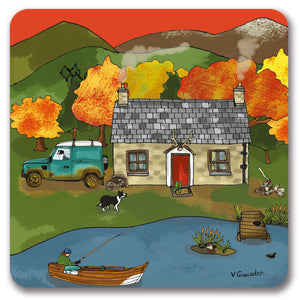 Fishing Cottage Coaster<br>(Pack of 10)