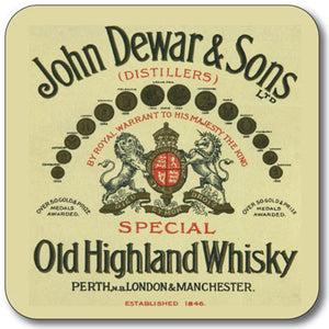 John Dewar Old Highland Whisky Coaster<br>(Pack of 10)