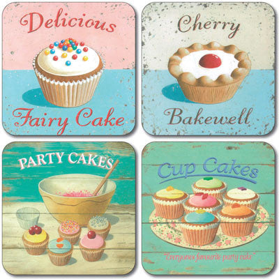 Fairy Cakes  Coaster set of 4<br>(Pack of 4)