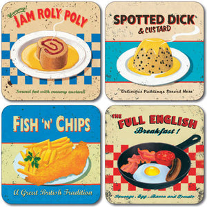 Nostalgic Food Coaster set of 4<br>(Pack of 4)