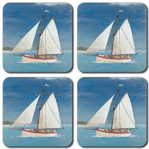 Sail Boat Coaster set of 4<br>(Pack of 10