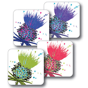 Mixed Thistles Coaster Set of 4<br>(Pack of 4)