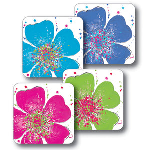 Mixed Roses Coaster Set of 4<br>(Pack of 4)