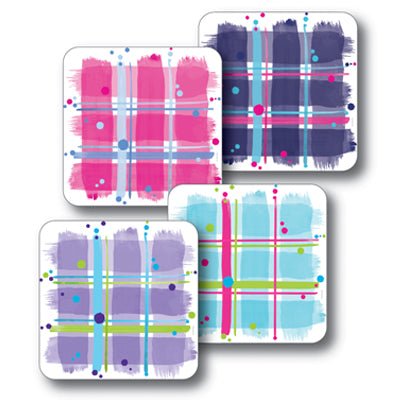 Mixed Tartans Coaster Set of 4<br>(Pack of 4)