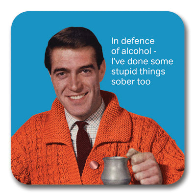 In Defence of Alcohol Coaster<br>(Pack of 10)