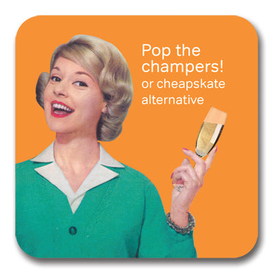 Pop the Champers! Coaster<br>(Pack of 10)