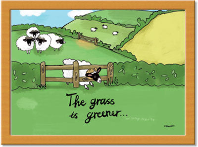 Grass is Greener  Cushion Tray<br>(Pack of 2)
