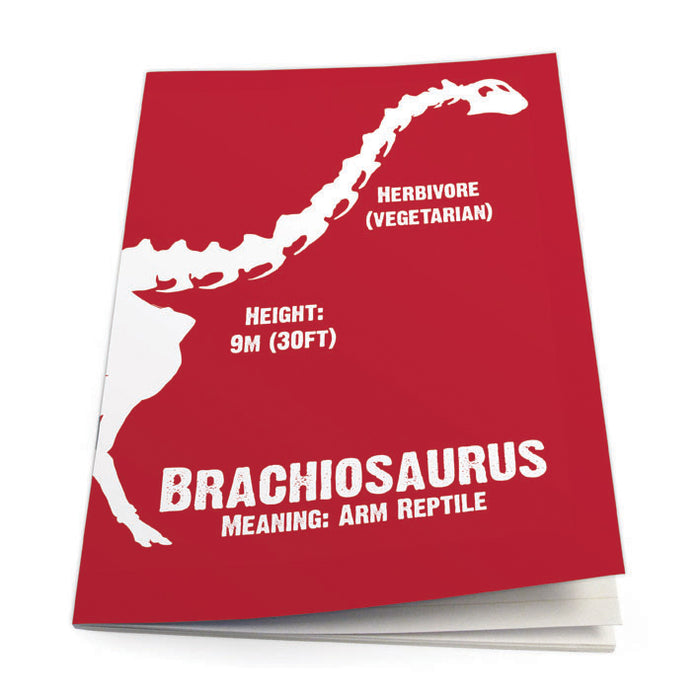 Brachiosaurus Exercise Book<br>(Pack of 10)