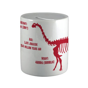 Brachiosaurus Ceramic Money Box<br>(Pack of 6)