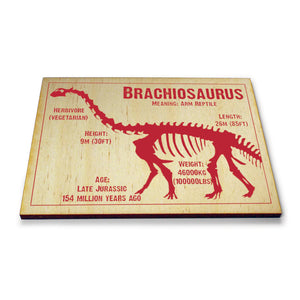 Brachiosaurus Wooden Postcard<br>(Pack of 5)