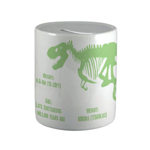 Tyrannosaurus Ceramic Money Box<br>(Pack of 6)