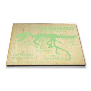 Tyrannosaurus Wooden Postcard<br>(Pack of 10)