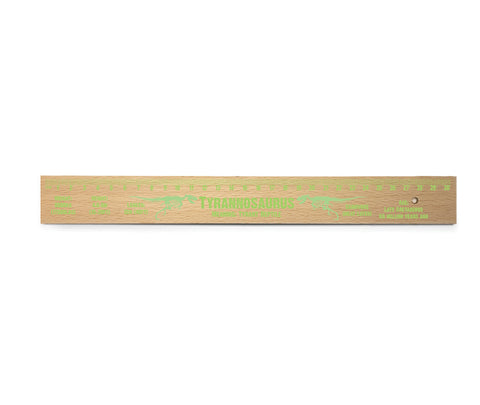 Tyrannosaurus Wooden Ruler<br>(Pack of 10)