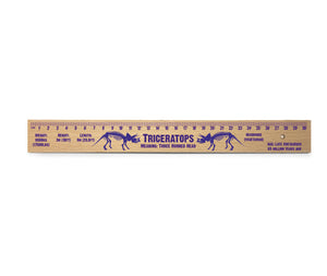Triceratops Wooden Ruler<br>(Pack of 10)