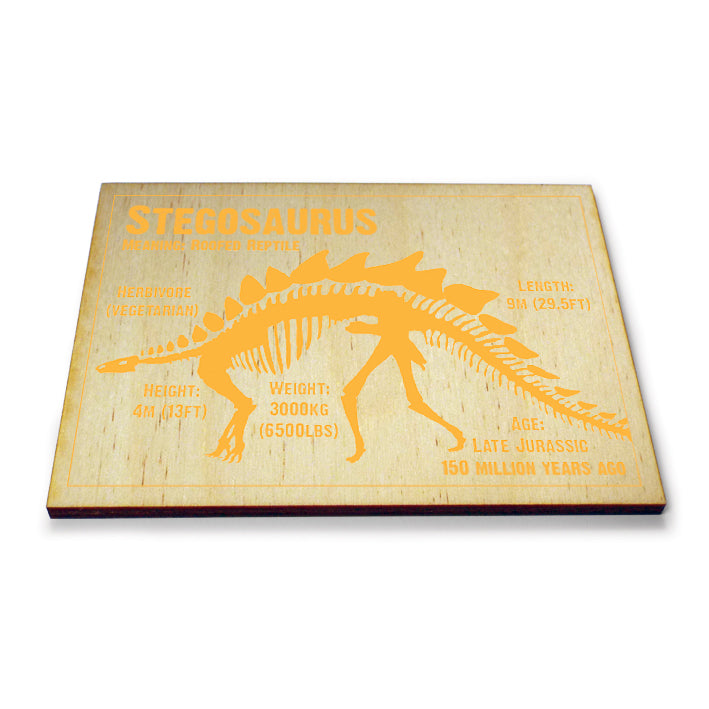 Stegosaurus Wooden Postcard<br>(Pack of 5)