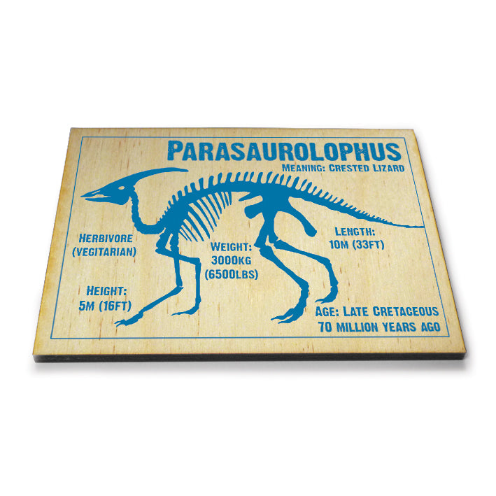 Parasaurolophus Wooden Postcard<br>(Pack of 5)
