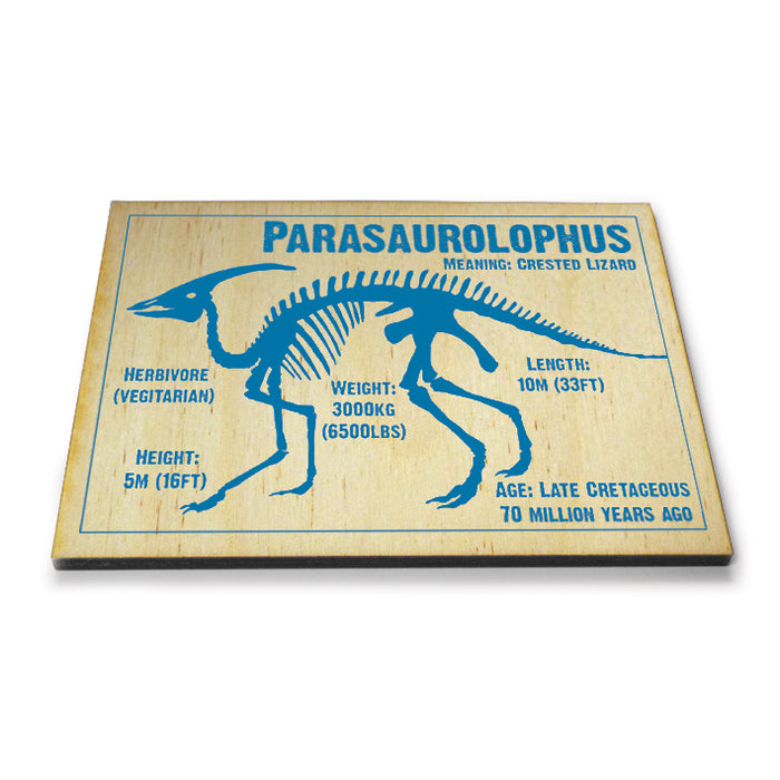 Parasaurolophus Wooden Postcard<br>(Pack of 10)