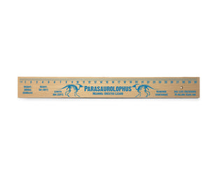 Parasaurolophus Wooden Ruler<br>(Pack of 10)