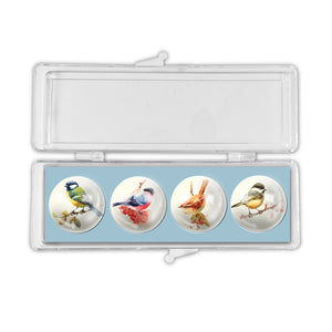 Mixed Birds 2 - Crystal Magnets set of 4<br>(Pack of 10)