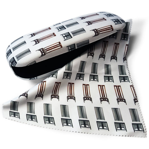 Chairs Glasses Case and Lens Cloth<br>(Pack of 5)