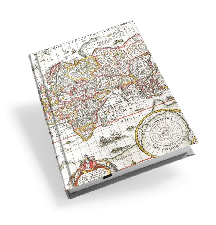 Map of the World Hardback Journal<br>(Pack of 5)