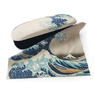 The Great Wave off Kanagawa Glasses Case and Lens Cloth<br>(Pack of 5)