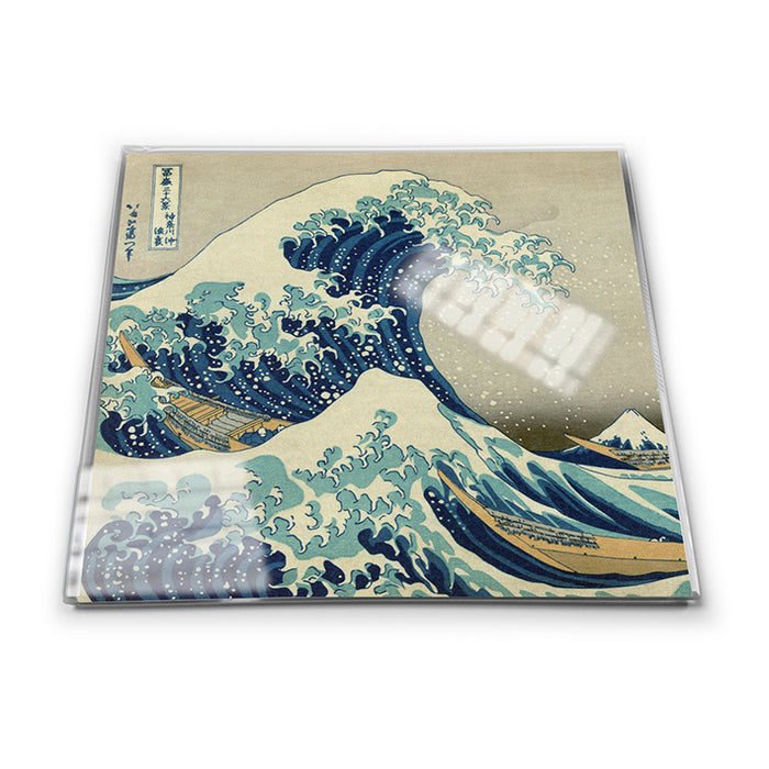The Great Wave off Kanagawa Glass Coaster<br>(Pack of 10)
