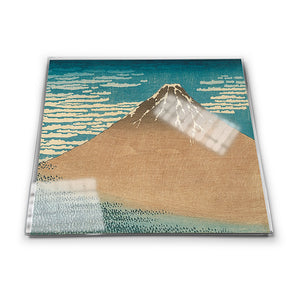 Mount Fuji in Clear Weather Glass Coaster<br>(Pack of 10)