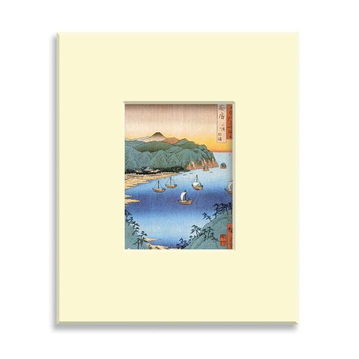 Small Port and Inlet at Awa Province - Mounted print (Pack of 5)