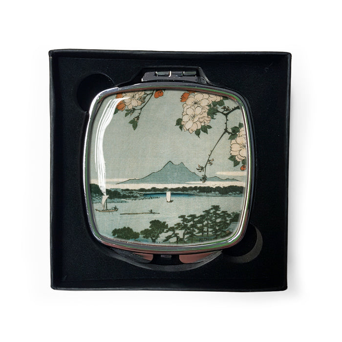 Suijin Shrine and Massaki on the Sumida River, No. 35 from One Hundred Famous Views of Edo - Compact Mirror<br>(Pack of 5)