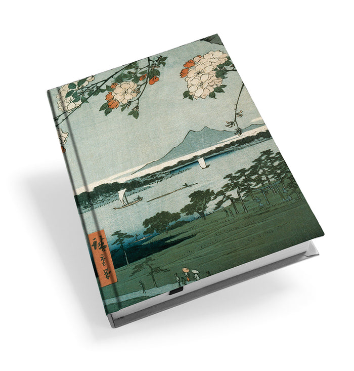 Suijin Shrine and Massaki on the Sumida River, No. 35 from One Hundred Famous Views of Edo Hardback Journal<br>(Pack of 5)