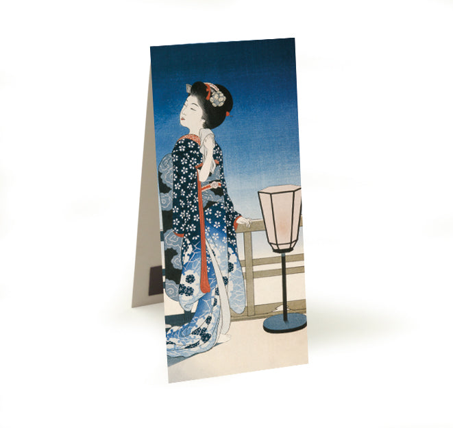 Maiko Admiring the Moon Magnetic Bookmark<br>(Pack of 20)