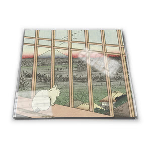 Asakusa Ricefields and Torinomachi Festival, No. 101 from One Hundred Famous Views of Edo Glass Coaster<br>(Pack of 10)