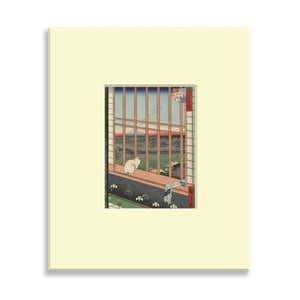 Asakusa Ricefields and Torinomachi Festival, No. 101 from One Hundred Famous Views of Edo - Mounted print (Pack of 5)