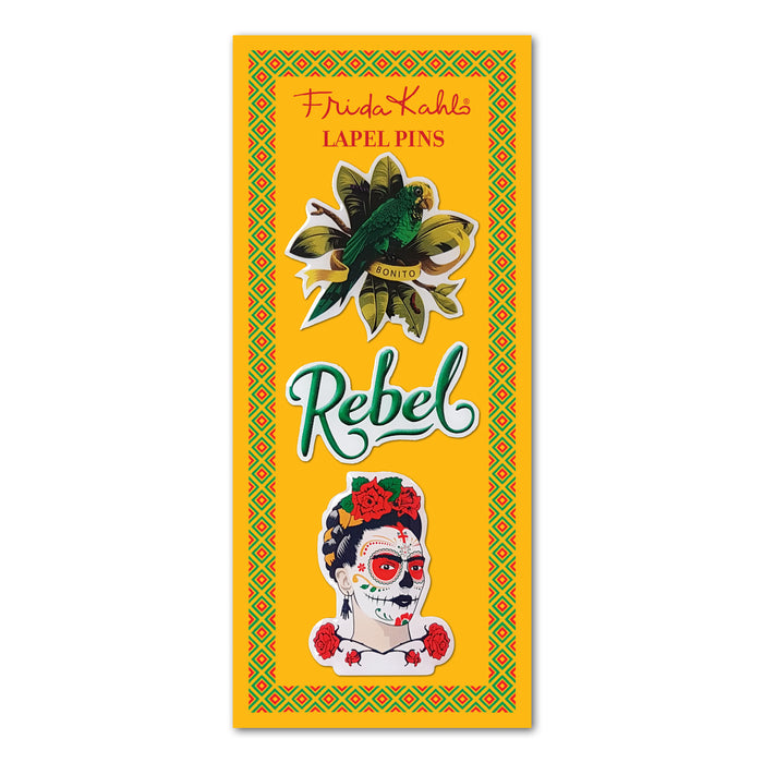 Frida Kahlo Rebel Lapel Pin Set<br>(Pack of 5)