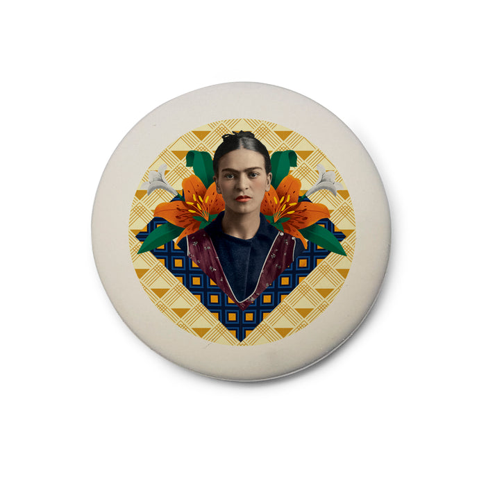 Frida Kahlo Orange Floral Eraser<br>(Pack of 10)