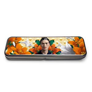 Frida Kahlo Orange Floral Pencil Set<br>(Pack of 5)
