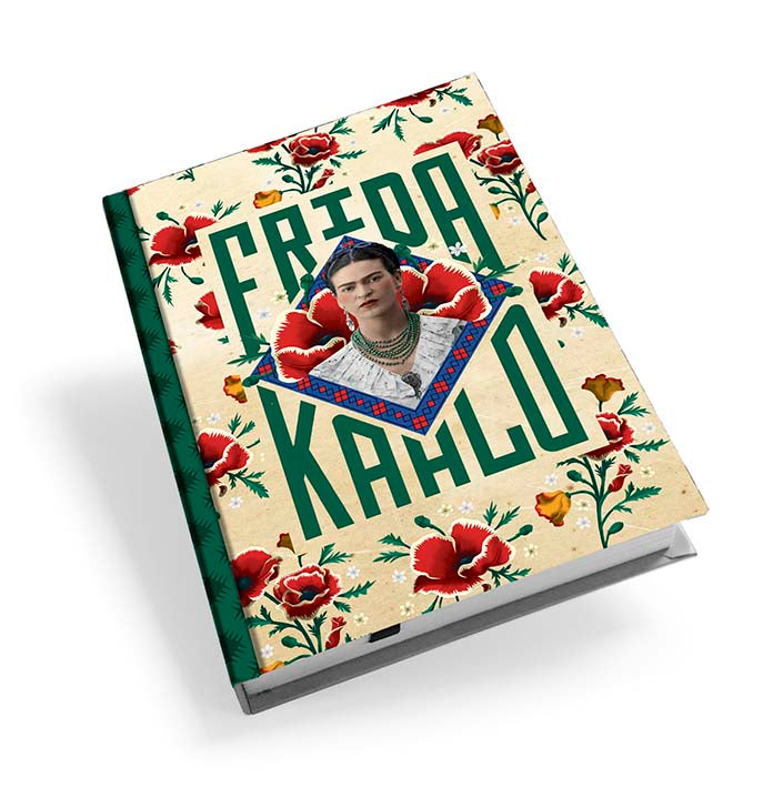 Frida Kahlo Red Poppies Hardback Journal<br>(Pack of 5)