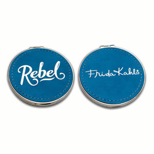 Frida Kahlo Rebel Suede Compact Mirror<br>(Pack of 5)