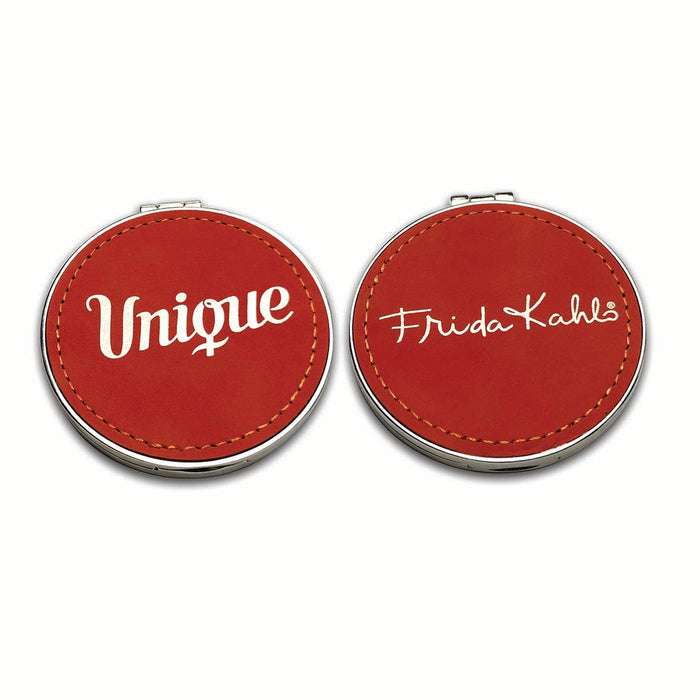 Frida Kahlo Unique Suede Compact Mirror<br>(Pack of 5)