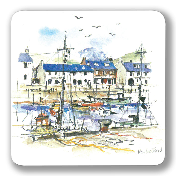 Boats in Harbour Coaster<br>(Pack of 10)