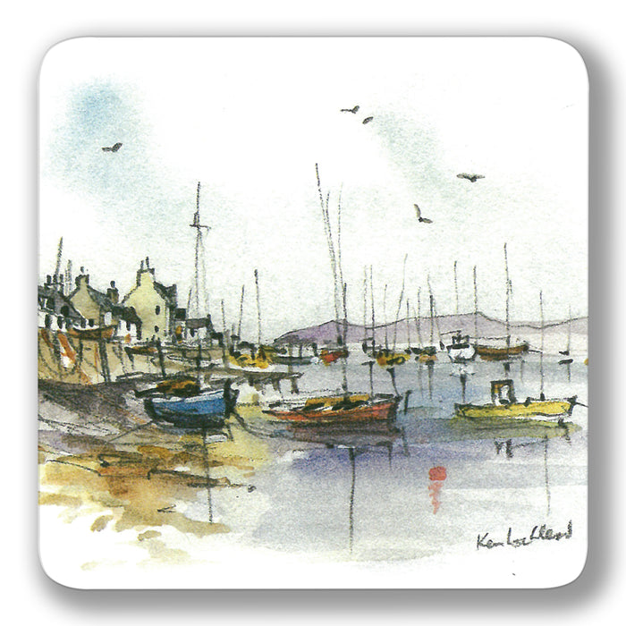 Seaside Boats Coaster<br>(Pack of 10)