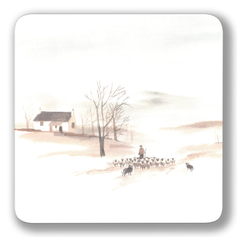 Winter Sheep Coaster<br>(Pack of 10)