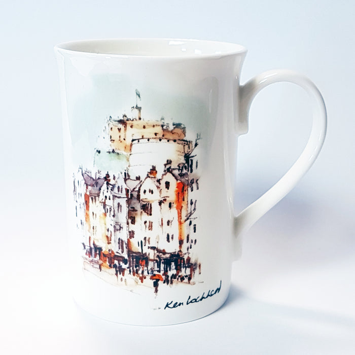 Edinburgh Castle from Grassmarket Mug<br>(Pack of 6)