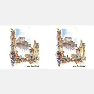 Edinburgh Castle from Castle Street Mug<br>(Pack of 6)