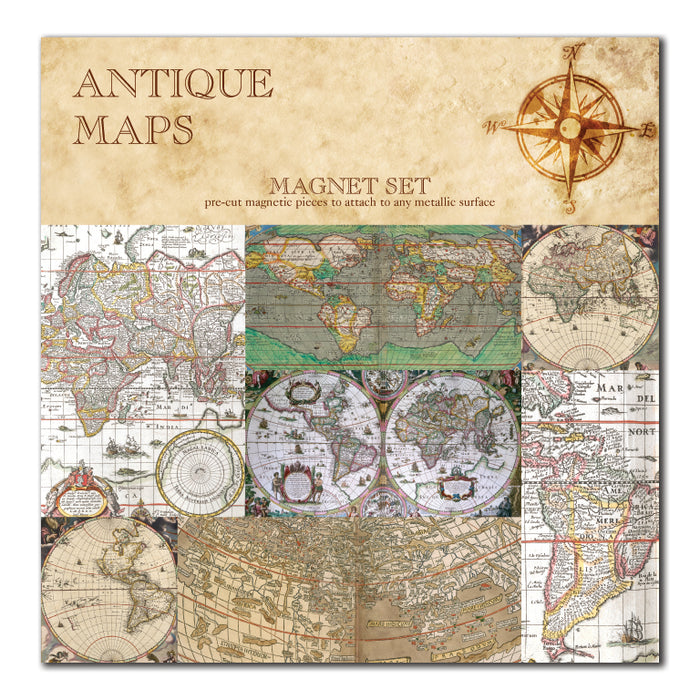 Antique Maps Magnet Set<br>(Pack of 5)
