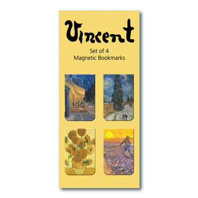 Van Gogh Set of 4  Magnetic Bookmark<br>(Pack of 10)