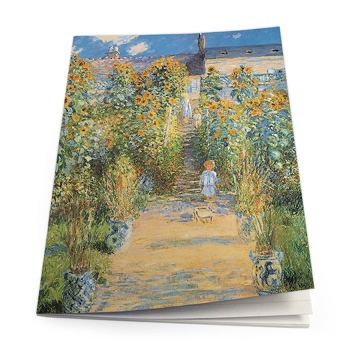 The Artist's Garden at Vetheuil Exercise Book<br>(Pack of 10)