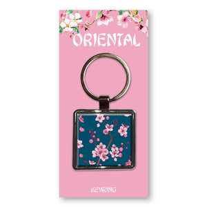 Oriental Blossom - Metal Keyring<br>(Pack of 10)